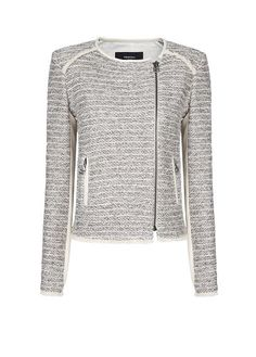 inner fashionista, cloth, style, chaqueta bouclé, bouclé jacket, jackets, mango, bouclé ecru, bouclé cremallera