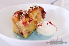 White Chocolate, Macadamia and Raspberry Bread & Butter Pudding - nzgirl