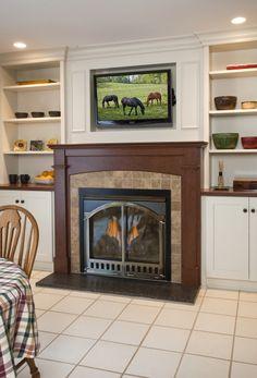 New fireplace wall.
