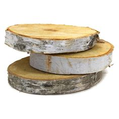 "8"" Birch Tree Wood Slab Centerpiece"