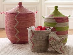 Senegalese Baskets - toy storage for Audrey's room