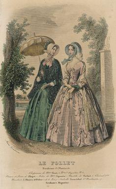 11847 fashion, dresses, magazines, pink, france, finest fashion, 1840s fashion, victorian era, september