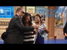 "Coreisa Lee, 19, a graduate of the Alabama School of Fine Arts, receives a new professional flute on ""The Meredith Vieira Show."""