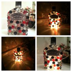 Gentleman Jack UpCycled Liquor Bottle Lamp by DESIGNSbyBellaMoon, $28.00