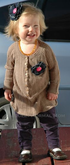Repurposing a Sweater into a Children's Sweater Dress