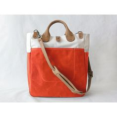 Garrison Bag Natural/Flame by wintersession on Etsy