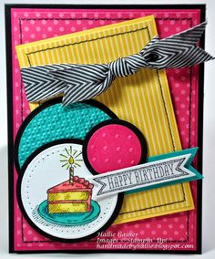 happy birthdays, sketch birthday, bright color, happi birthday, stampin up sketched birthday, sketched birthdays