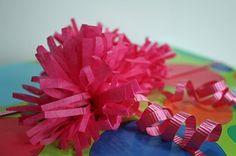 tissue paper fringe bow...so easy!