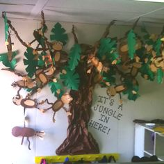 Jungle Crafts- Monkey Tree doing this my class so they know i love monkeys :D