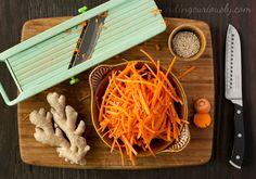 Mandolin Sliced Matchstick Carrots