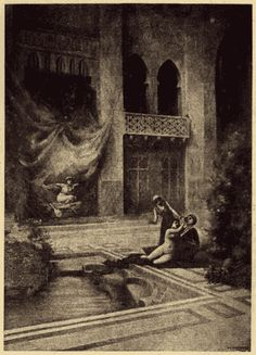 "An illustration from Richard Burton's ""Thousand Night and a Night""      (http://web.archive.org/web/20000920052313/http://www-personal.umich.edu/~spalding/burton/plates/7.gif)"