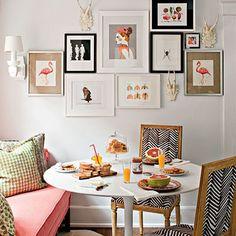 chair, galleri, breakfast nooks, gallery walls, flamingo