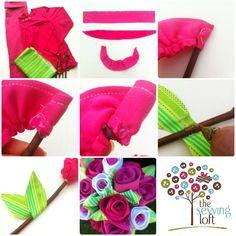 Fácil flores de tela   The Loft Costura