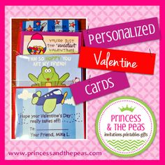Personalized Valentine Cards  #valentinesday #valentinecards