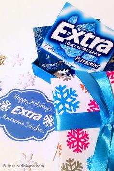 teacher gifts, awesom teacher, holiday teacher, gift tags, printabl tag