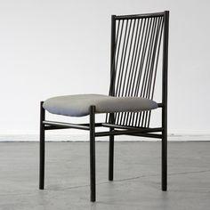 Joaquim Tenreiro; Ebonized Wood 'Structural' Sidechair, 1947.