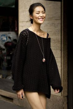 """""""Liu Wen looking effortlessly chic. Dimples to die for! :) #Asian #fashion #model""""  SHE IS SO CUTE"""