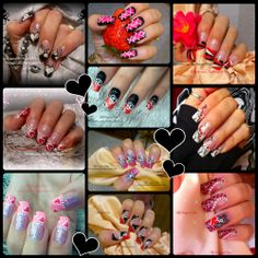 Valentine's Day Nail Art Collage by MyDesigns4You #valentinesnails #mydesigns4you http://www.youtube.com/user/MyDesigns4You