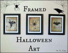 Spooky Creatures Framed Halloween Art