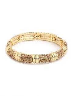 gold crystal bangle / baublebar