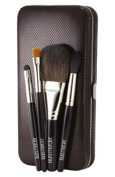 Luxurious, travel makeup brushes--perfect for on-the-go!