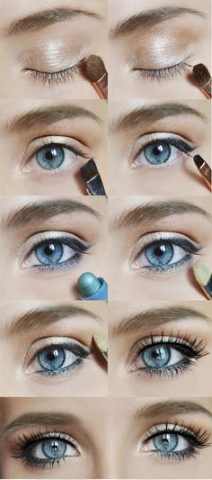 Tints of blue make up