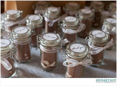 Cute bridal showr favors for a winter wedding: Hot Chocolate in a jar! Teal Tuesday: Claire's Bridal Shower