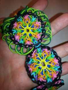 LARGE Kaleidoscope Rainbow Loom Bracelet Tutorial