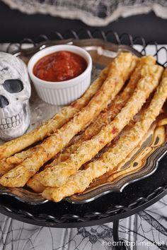 Bony Halloween Breadsticks ...super easy and delicious!