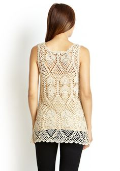 /// Sleeveless Crochet Top