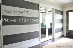 Honey We're Home: How to Paint Perfect Wide Stripes