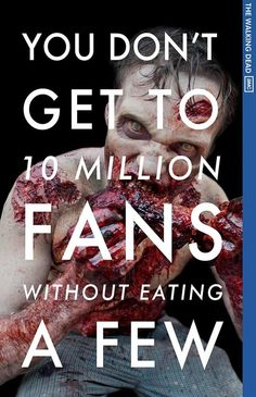 AMC's Walking Dead hits 10 million Facebook fans, debuts awesome Social Network parody poster.  (via Mashable)
