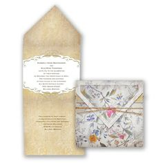 Glowing with shimmer and shine, this antique floral wedding invitation is a work of art. #VintageWedding #WeddingInvitation #DavidsBridal http://www.invitationsbydavidsbridal.com/Wedding-Invitations/Vintage-Invitations/2947-DB13236-Botanical-Tapestry--Invitation.pro?&sSource=Pinterest&kw=Vintage_DB13236