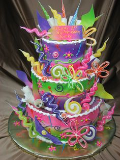 #KatieSheaDesign ♡❤ ❥ Colorful Cake!
