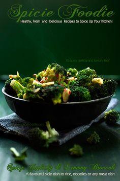 Spicy, Garlicky and Lemony Broccoli