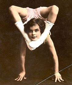 vintage circus: child contortionist