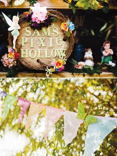 tinkerbell party (glittery bunting from the purple pug)