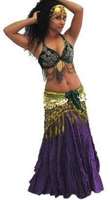 Velvet Peacock Tribal Belly Dance Costume