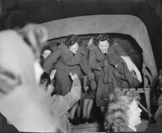 British girls are trucked to the 381st Bomb Group for an enlisted men's dance.