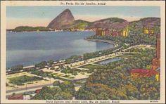 #travelcolorfully vintage rio de janeiro postcard