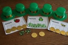 Phonemic awareness activity using St. Patrick's Day materials
