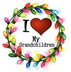 I ♥ My Grandchildren christma cheer, christmas lights, wreath, merri christma, thing christma, christma light