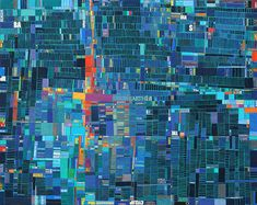 """Earth, 2008, 48"""" x 60"""", cut paper on 9 cradled hardpanels / by Laurie Frick / via @mary huang"""