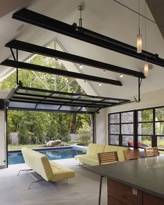 Open Plan Pool House by Randall Mars Architects