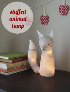 How to make a stuffed animal lamp