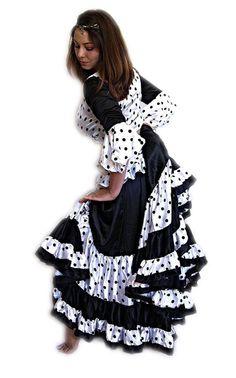 We3 Belly Dance Gitane Label Elegant Gypsy Flamenco 32 Yard Skirt #We3GitaneLabel