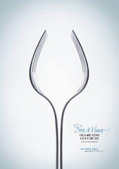 Food & Wine Festival poster, creative logo