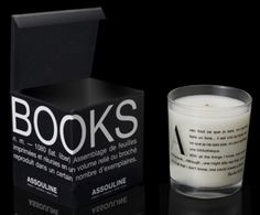 A candle that smells like books. I want this!!!