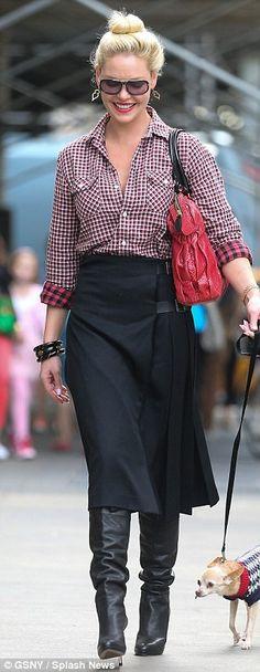 Fall dressing: Katherine Heigl