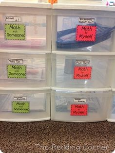 Blog post on how one teacher organizes her math workshop (Math Daily 5).